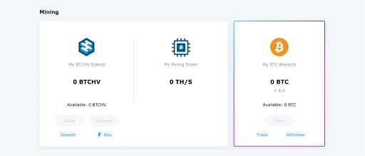 Purchase BTCHV with USDT and USDC